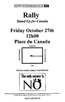Rally, Stand Up For Canada